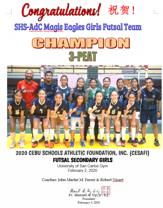 CESAFI Futsal Girls Secondary 2020