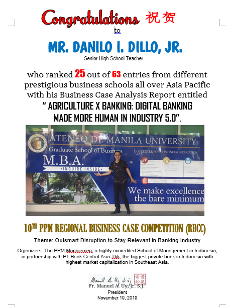 Danilo Dillo PPM REGIONAL BUSINESS CASE COMPETITION