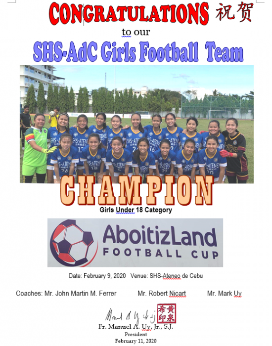 Football AboitizLand Cup 2020