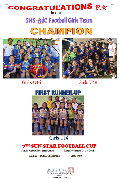 Football Girls Sun Star Cup 2018