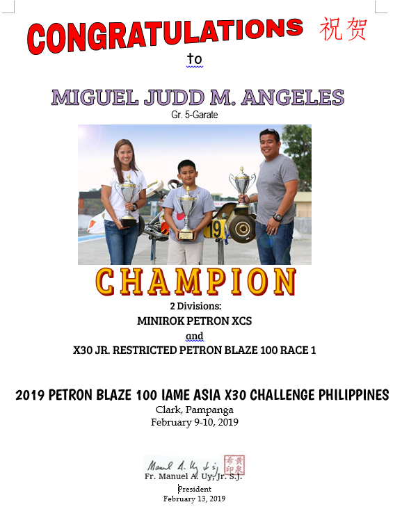 Karting - Miguel Judd Angeles 2019