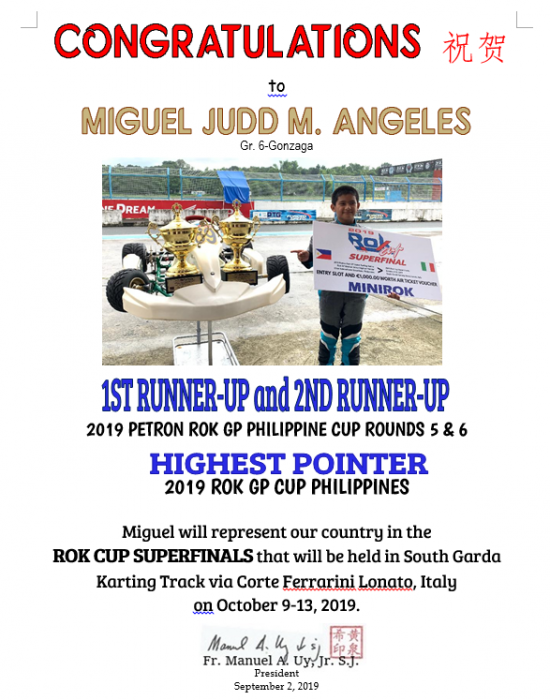 Karting - Miguel Judd Angeles August 2019