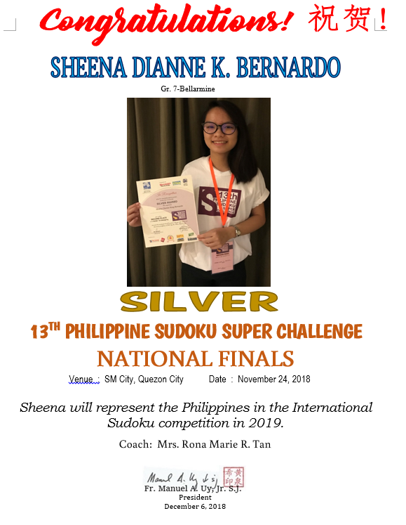 Philippine Sudoku Super Challenge National Finals