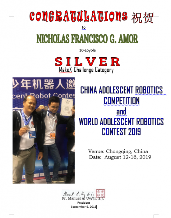Robotics China Adolescent Robotics & World Adolescent Robotics 2019