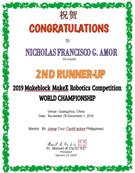 Robotics Competition  Makeblock Make X World Championship 2019