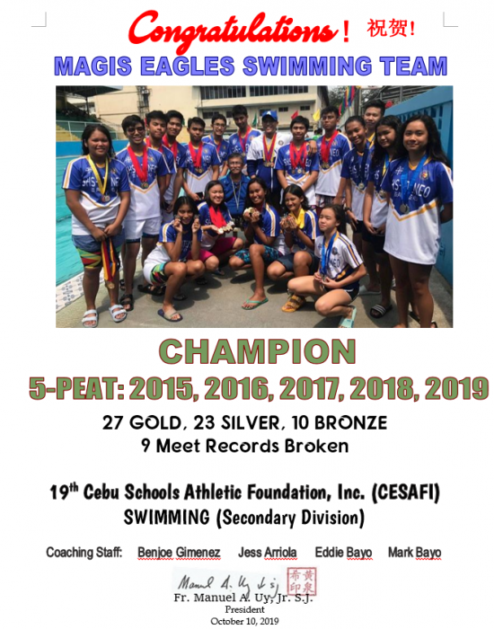 Swimming CESAFI 2019