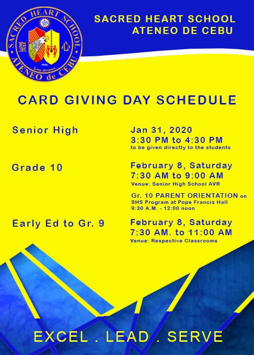 3rd Quarter Card Giving Day Schedule