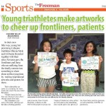 Young triathletes make artworks to cheer up frontliners patients