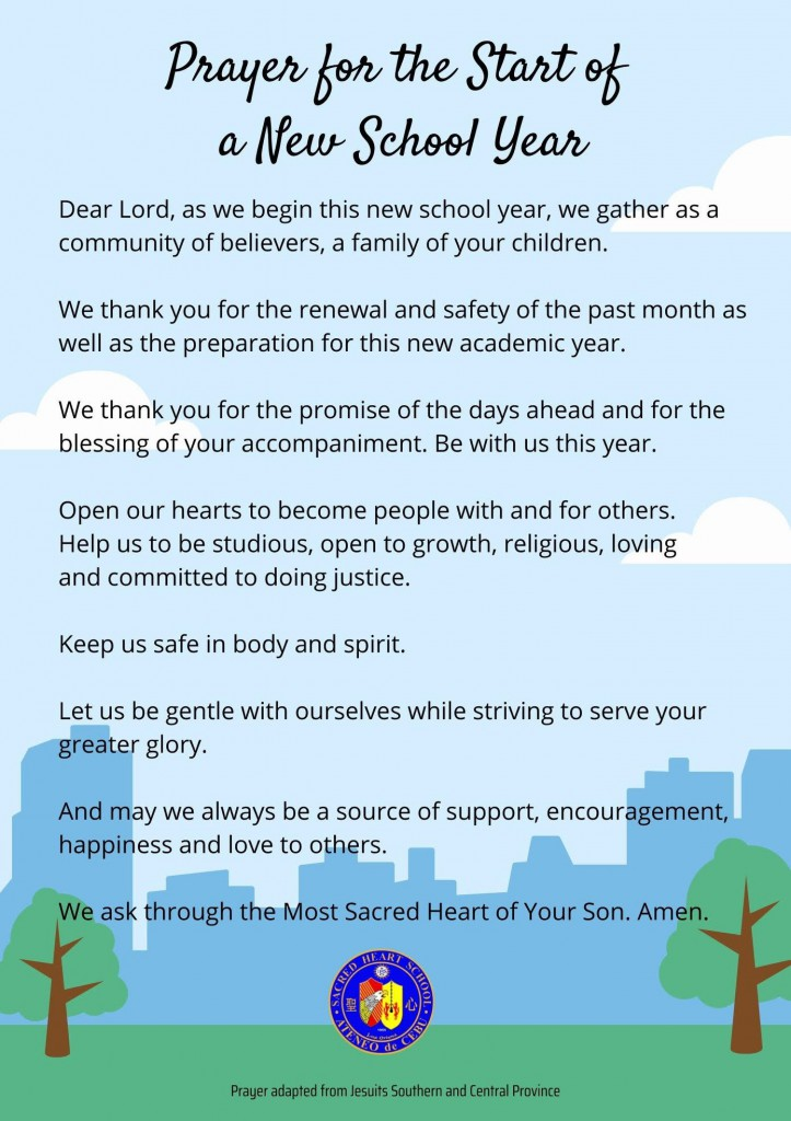 Prayer for the Start of a New School Year